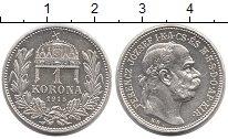 Изображение Монеты Венгрия 1 крона 1915 Серебро Proof-