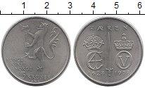 Изображение Монеты Норвегия 5 крон 1978 Медно-никель UNC- 350 - летие  Династи