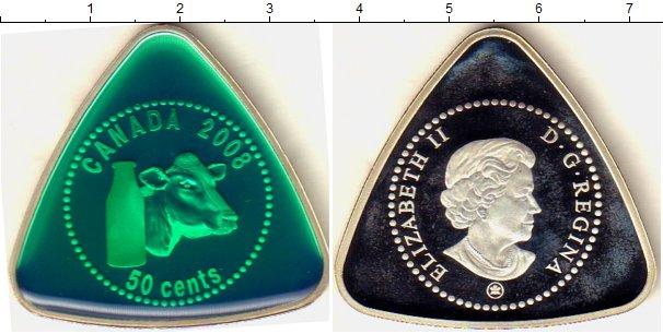 Картинка Монеты Канада 50 центов Серебро 2008