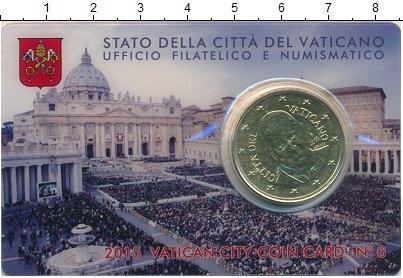 Изображение Монеты Ватикан 50 евроцентов 2015 Латунь UNC