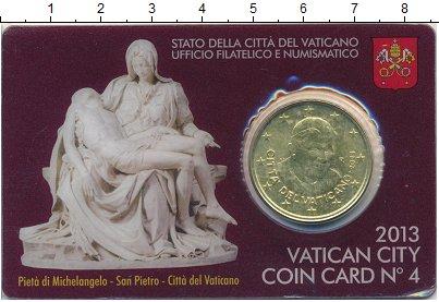 Изображение Монеты Ватикан 50 евроцентов 2013 Латунь UNC