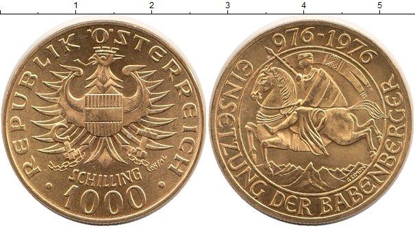 Картинка Монеты Австрия 1.000 шиллингов Золото 1976