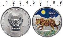 Изображение Монеты Конго 240 франков 2008 Серебро UNC Леопард