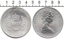 Изображение Монеты Великобритания Теркc и Кайкос 25 крон 1977 Серебро UNC