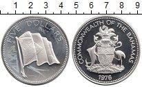 Изображение Монеты Багамские острова 5 долларов 1976 Серебро Proof-
