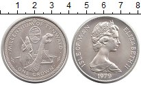 Изображение Монеты Великобритания Остров Мэн 1 крона 1979 Серебро UNC-
