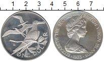 Изображение Монеты Виргинские острова 1 доллар 1973 Серебро UNC-