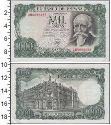 Изображение Банкноты Испания 1000 песет 1971  UNC