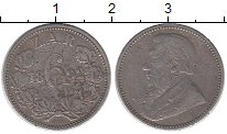 Изображение Монеты ЮАР 6 пенсов 1892 Серебро VF
