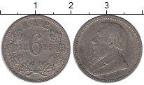 Изображение Монеты ЮАР 6 пенсов 1895 Серебро XF