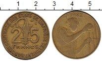 Изображение Монеты Великобритания Западная Африка 25 франков 1987 Латунь XF