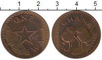 Изображение Монеты Гана 1 песева 1967 Бронза UNC-