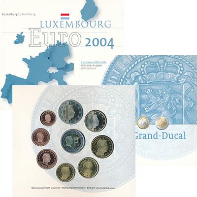 Изображение Подарочные монеты Люксембург Евронабор 2004 года 2004  UNC В набор входят евром