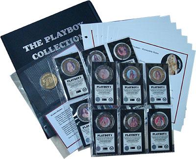 Изображение Подарочные монеты Великобритания 50 лет журнала Плейбой 2003  UNC В набор входит монет