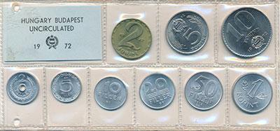 Изображение Наборы монет Венгрия Набор монет 1972 года 1972  UNC В наборе 9 монет ном