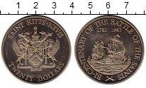 Изображение Монеты Сент Киттс-Невис 20 долларов 1982 Медно-никель UNC-