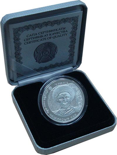 Изображение Подарочные монеты Казахстан 500 тенге 2016 Серебро Proof Монета из серии Порт