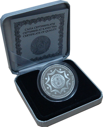 Изображение Подарочные монеты Казахстан 500 тенге 2015 Серебро Proof 2015 - Год Ассамблеи