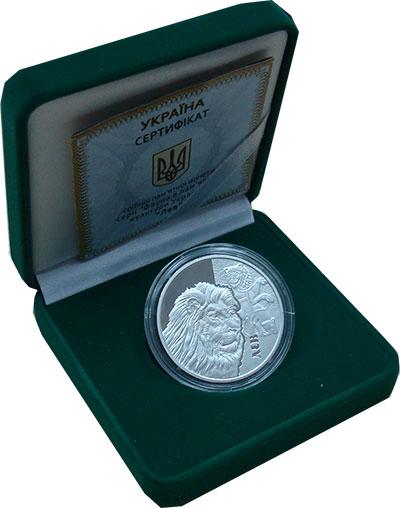 Изображение Подарочные монеты Украина 5 гривен 2017 Серебро Proof Монета номиналом 5 г
