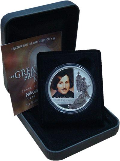Изображение Подарочные монеты Тувалу 1 доллар 2009 Серебро UNC Цифровая  печать.  Е