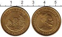 Изображение Мелочь Дания 20 крон 2006 Латунь UNC-