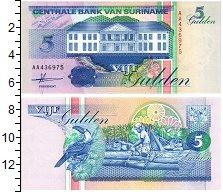 Изображение Банкноты Суринам 5 гульденов 1991  UNC