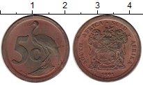 Изображение Мелочь ЮАР 5 центов 1991 Бронза XF