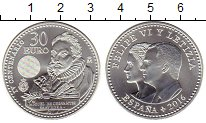 Изображение Монеты Испания 30 евро 2016 Серебро UNC