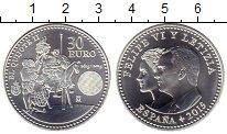 Изображение Монеты Испания 30 евро 2015 Серебро UNC