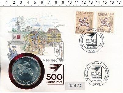 Изображение Значки, ордена, медали Германия Медаль 1990 Медно-никель UNC 500 лет почтовой слу