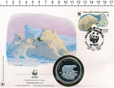 Изображение Подарочные монеты Германия Медаль 1986 Медно-никель Proof WWF. 30 лет Фонду ох