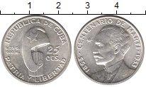 Изображение Монеты Куба 25 сентаво 1953 Серебро UNC-