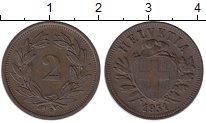 Изображение Монеты Швейцария 2 раппа 1931 Бронза XF