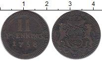 Изображение Монеты Германия Мюнстер 2 пфеннига 1758 Медь XF-