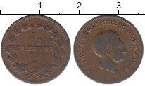 Изображение Монеты Германия Баден 1/2 крейцера 1829 Медь XF