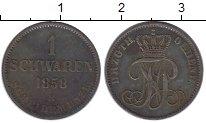 Изображение Монеты Германия Ольденбург 1 шварен 1858 Медь XF-
