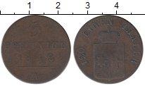 Изображение Монеты Германия Вальдек-Пирмонт 3 пфеннига 1842 Медь XF-