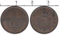 Изображение Монеты Германия Пруссия 1 пфенниг 1857 Медь XF+