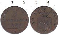 Изображение Монеты Германия Пруссия 3 пфеннига 1834 Медь XF