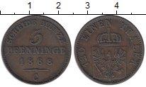 Изображение Монеты Германия Пруссия 3 пфеннига 1868 Медь XF