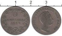 Изображение Монеты Германия Баден 6 крейцеров 1833 Серебро XF