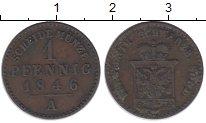 Изображение Монеты Германия Шварцбург-Зондерхаузен 1 пфенниг 1846 Медь XF-