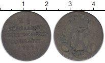 Изображение Монеты Германия Шлезвиг-Гольштейн 2 1/2 шиллинга 1737 Серебро VF