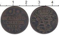 Изображение Монеты Германия Саксе-Кобург-Саалфельд 1 пфенниг 1770 Медь XF-