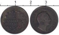 Изображение Монеты Баден 1/2 крейцера 1847 Медь XF-