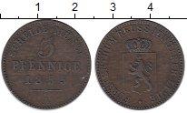 Изображение Монеты Германия Рейсс-Шляйц 3 пфеннига 1855 Медь XF