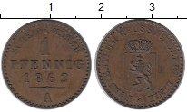 Изображение Монеты Германия Рейсс-Шляйц 1 пфенниг 1862 Медь XF