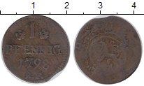 Изображение Монеты Германия Гессен-Дармштадт 1 пфенниг 1798 Медь VF