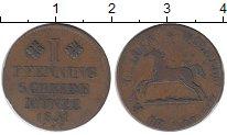 Изображение Монеты Германия Брауншвайг 1 пфенниг 1831 Медь XF-