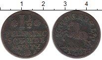 Изображение Монеты Германия Брауншвайг-Люнебург-Кале 1 1/2 пфеннига 1703 Медь VF